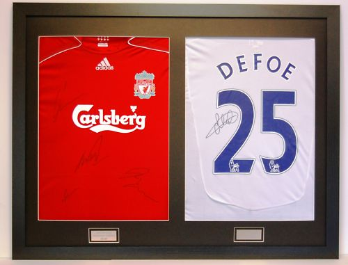 Northern Framing | READY MADE FRAME FOR 2 SIGNED SHIRTS WITH FRONT MOUNT